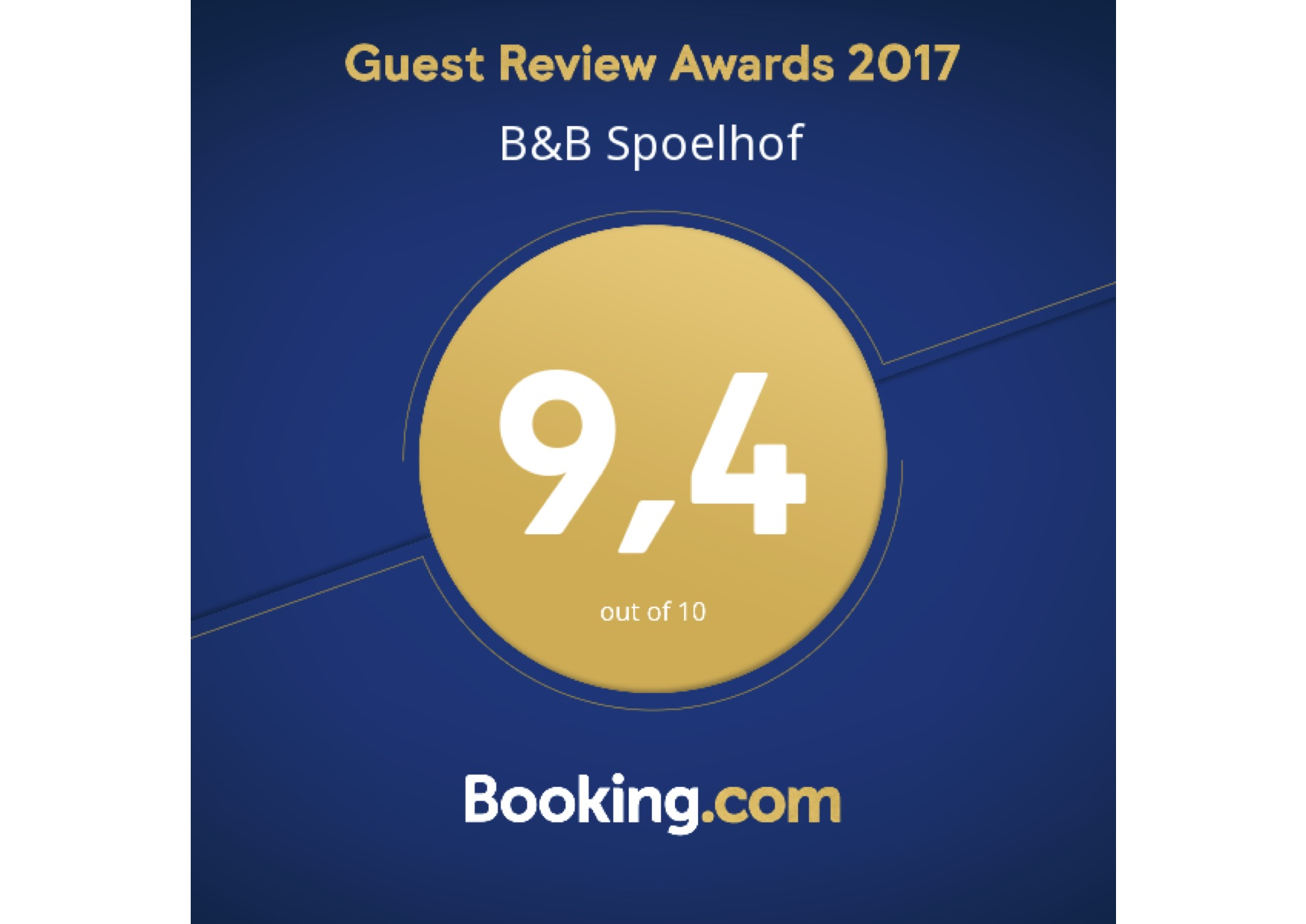 Booking.com Award 2017